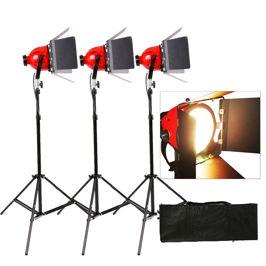 Red Head Open Face lempos 800W 3 vnt
